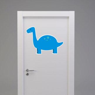 Naklejka na drzwi/meble DINOZAUR Z DŁUGĄ SZYJĄ niebieski