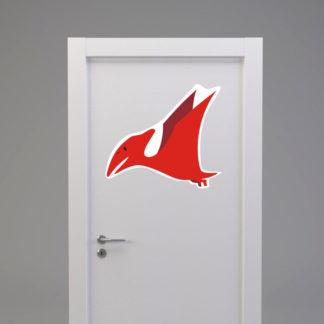 Naklejka na drzwi/meble DINOZAUR PTERODAKTYL czerwony