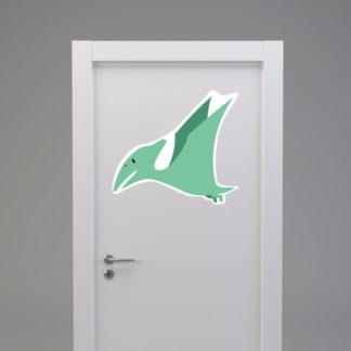 Naklejka na drzwi/meble DINOZAUR PTERODAKTYL miętowy