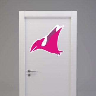 Naklejka na drzwi/meble DINOZAUR PTERODAKTYL różowy