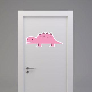 Naklejka na drzwi/meble DINOZAUR KROKODYL różowy