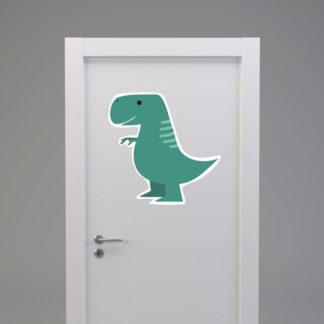 Naklejka na drzwi/meble DINOZAUR TYRANOZAUR zielony