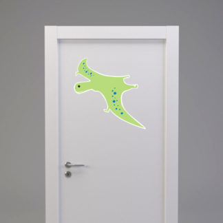Naklejka na drzwi/meble DINOZAUR W LOCIE jasno zielony