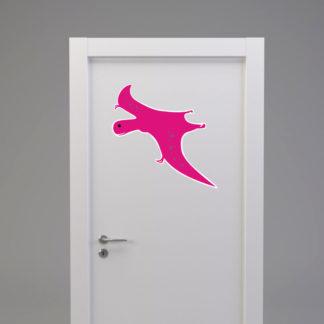 Naklejka na drzwi/meble DINOZAUR W LOCIE różowy