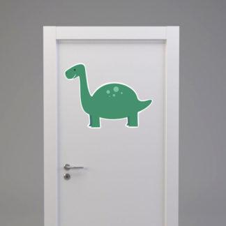 Naklejka na drzwi/meble DINOZAUR Z DŁUGĄ SZYJĄ zielony