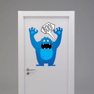 Naklejka na drzwi/meble POTWOREK STRASZAK NIEBIESKI
