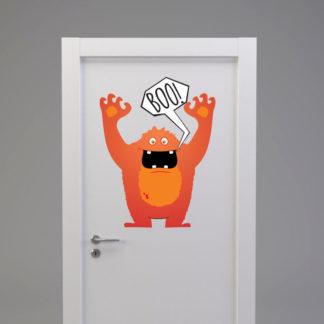 Naklejka na drzwi/meble POTWOREK STRASZAK POMARAŃCZOWY