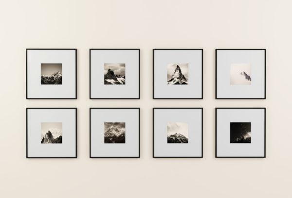 kolarz wydruków zdjęć kwadratowych