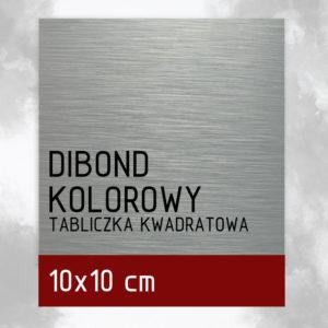sklep z pomysłem Tabliczka DIBOND KOLOROWY 10x10 cm