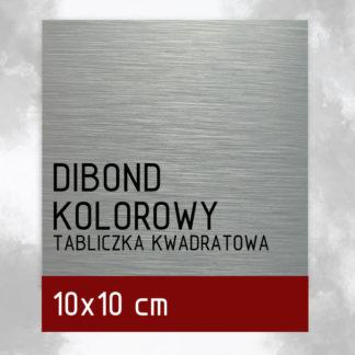 Tabliczka DIBOND KOLOROWY 10×10 cm