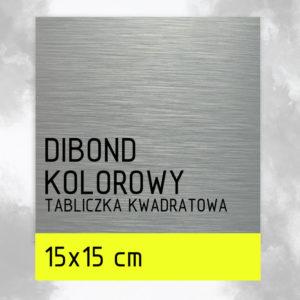 sklep z pomysłem Tabliczka DIBOND KOLOROWY 15x15 cm