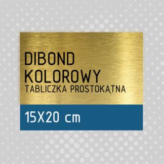 Tabliczka prostokątna DIBOND KOLOROWY 15×25 cm