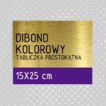 sklep z pomysłem Tabliczka DIBOND KOLOROWY 15x25 cm