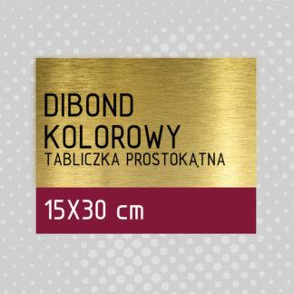 Tabliczka prostokątna DIBOND KOLOROWY 15×30 cm