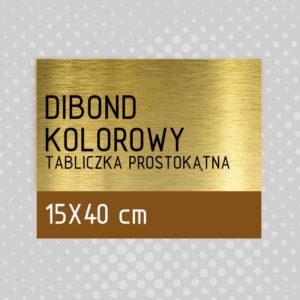 sklep z pomysłem Tabliczka DIBOND KOLOROWY 15x40 cm