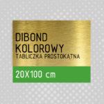 Tabliczka prostokątna DIBOND KOLOROWY 20x100 cm