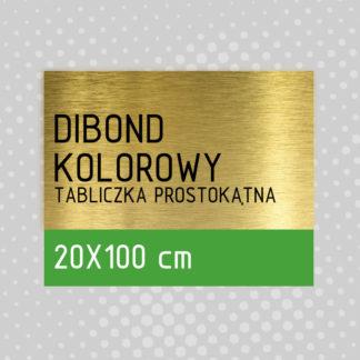 Tabliczka prostokątna DIBOND KOLOROWY 20×100 cm