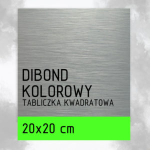 sklep z pomysłem Tabliczka DIBOND KOLOROWY 20x20 cm