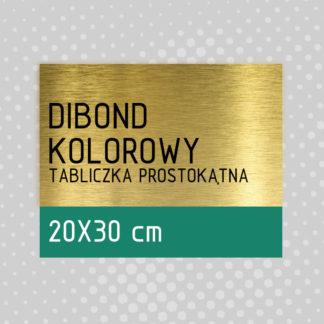 Tabliczka prostokątna DIBOND KOLOROWY 20×30 cm