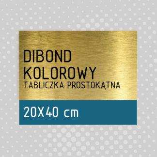 Tabliczka prostokątna DIBOND KOLOROWY 20×40 cm
