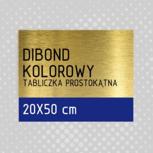 sklep z pomysłem Tabliczka DIBOND KOLOROWY 20x50 cm
