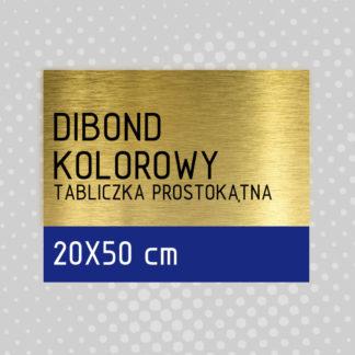 Tabliczka prostokątna DIBOND KOLOROWY 20×50 cm