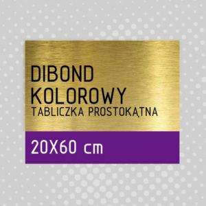 sklep z pomysłem Tabliczka DIBOND KOLOROWY 20x60 cm