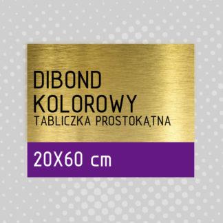 Tabliczka prostokątna DIBOND KOLOROWY 20×60 cm