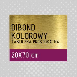 Tabliczka prostokątna DIBOND KOLOROWY 20×70 cm