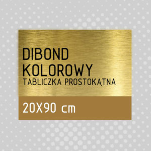 sklep z pomysłem Tabliczka DIBOND KOLOROWY 20x90 cm