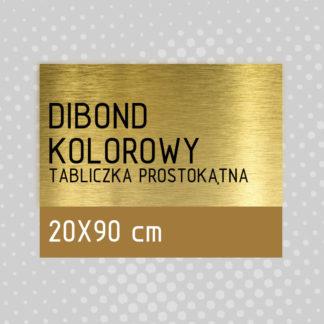 Tabliczka prostokątna DIBOND KOLOROWY 20×90 cm