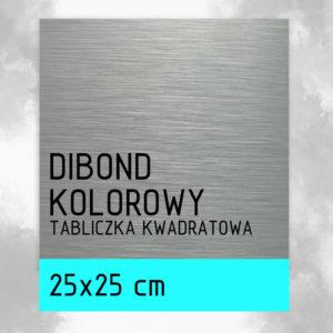 sklep z pomysłem Tabliczka DIBOND KOLOROWY 25x25 cm