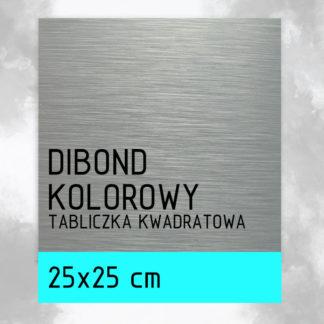Tabliczka DIBOND KOLOROWY 25×25 cm