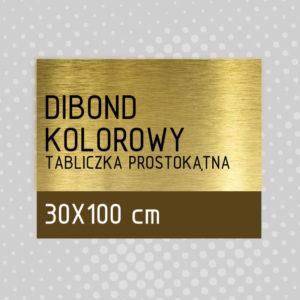 sklep z pomysłem Tabliczka DIBOND KOLOROWY 30x100 cm