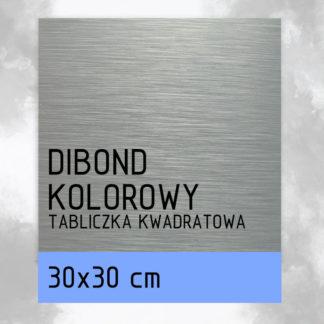 Tabliczka DIBOND KOLOROWY 30×30 cm