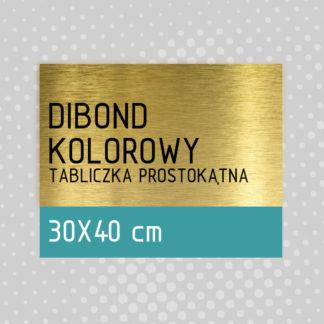 Tabliczka prostokątna DIBOND KOLOROWY 30×40 cm