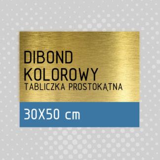 Tabliczka prostokątna DIBOND KOLOROWY 30×50 cm