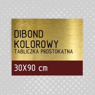 Tabliczka prostokątna DIBOND KOLOROWY 30×90 cm