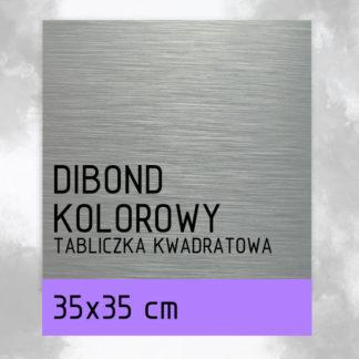 Tabliczka DIBOND KOLOROWY 40×40 cm