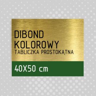 Tabliczka prostokątna DIBOND KOLOROWY 40×50 cm