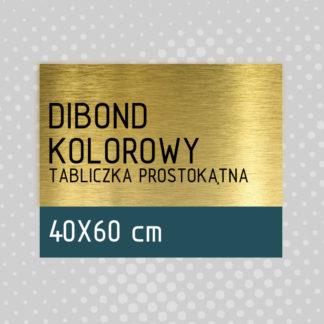 Tabliczka prostokątna DIBOND KOLOROWY 40×60 cm