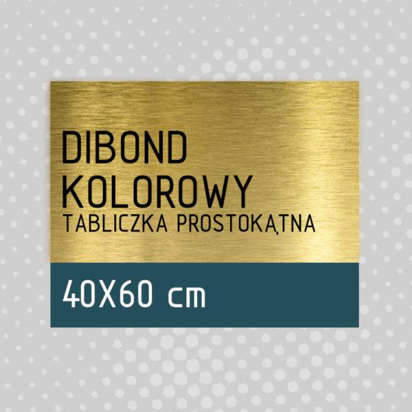 sklep z pomysłem Tabliczka DIBOND KOLOROWY 40x60 cm
