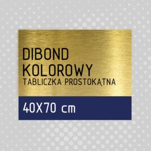 sklep z pomysłem Tabliczka DIBOND KOLOROWY 40x70 cm