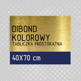 Tabliczka prostokątna DIBOND KOLOROWY 40×70 cm