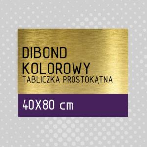 sklep z pomysłem Tabliczka DIBOND KOLOROWY 40x80 cm