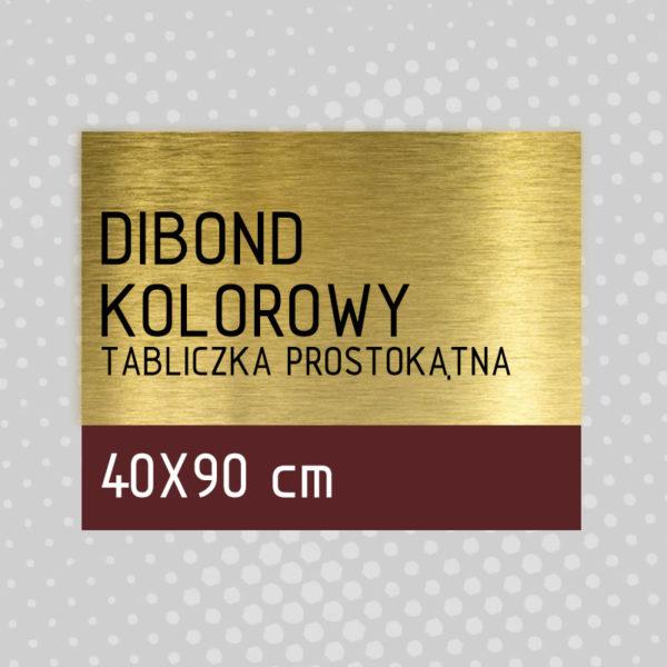 sklep z pomysłem Tabliczka DIBOND KOLOROWY 40x90 cm