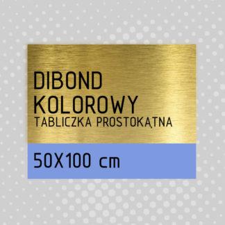 Tabliczka prostokątna DIBOND KOLOROWY 50×100 cm