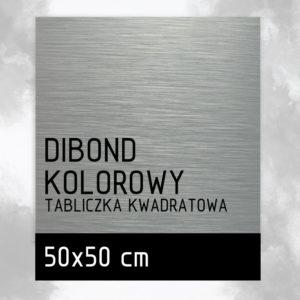 sklep z pomysłem Tabliczka DIBOND KOLOROWY 50x50 cm