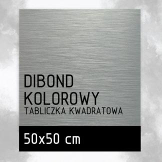 Tabliczka DIBOND KOLOROWY 50×50 cm