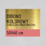 sklep z pomysłem Tabliczka DIBOND KOLOROWY 50x60 cm